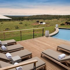 Mhondoro, een Lodge in Zuid-Afrika:  Zwembad door All-In Living