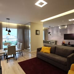 Salle à manger de style  par Pricila Dalzochio Arquitetura e Interiores, Moderne