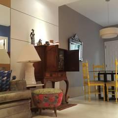 Projeto  apartamento na Lagoa Rodrigo de Freitas.: Salas de jantar  por Lucio Nocito Arquitetura e Design de Interiores