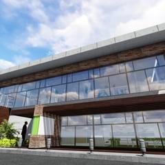 Galpón Laboratorio en Miami: Garajes y galpones de estilo  por Arquitectura Creativa