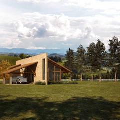 Casa na fazenda: Casas  por Lozí - Projeto e Obra
