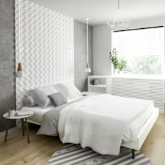Przytulne M3: styl , w kategorii Sypialnia zaprojektowany przez Formea Studio