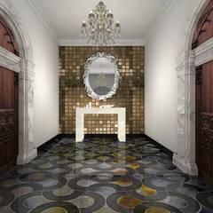 Pasillos y hall de entrada de estilo  por De Panache  - Interior Architects