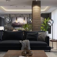FARGO DESIGNS – Modern villa proje:  tarz Oturma Odası