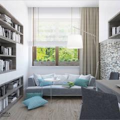 TURQUISE: styl , w kategorii Domowe biuro i gabinet zaprojektowany przez Ludwinowska Studio Architektury