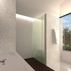 Reformulaçao de um apartamento no centro historico: Casas de banho  por 2L'atelier arquitectos