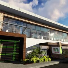 Galpón Laboratorio en Miami: Garajes y galpones de estilo  por Ghalmaca Arquitectura,