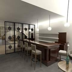 Balcão do Bar: Adegas  por A3 Ateliê Academia de Arquitectura