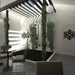Jardim e Luz natural: Jardins de Inverno  por A3 Ateliê Academia de Arquitectura