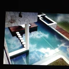 RESIDENCIA LAGOS DEL SOL CANCUN Q. ROO: Albercas de estilo  por sanmartiarquitectos
