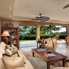 CASA BRUNO Islander ventilador de techo, marrón óxido, ISD1A: Salones de estilo  de Casa Bruno American Home Decor
