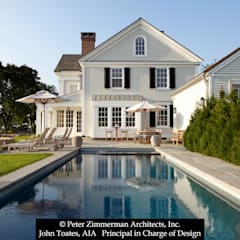 Exterior at Pool: classic Pool by John Toates Architecture and Design