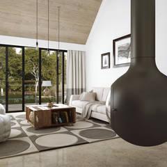 Proyecto Cabaña: Salas de estilo  por FERAARQUITECTOS