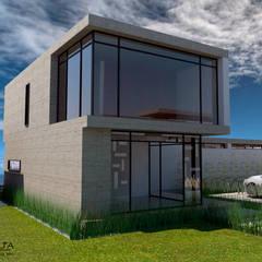 Render  Vista Posterior : Casas de estilo  por Atahualpa 3D