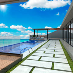 Casa Moderna 1: Piscinas de estilo  por Atahualpa 3D
