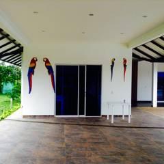 Casa Campestre - salon de eventos: Salas de estilo  por ARQUITECTOnico