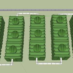 Microplantas Tratamiento Aguas Residuales: Baños de estilo  por Innovaciones  Ecologicas, Rústico