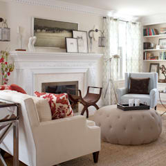 Denver Country Club Home: classic Living room by Andrea Schumacher Interiors
