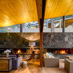 Sala y Terraza - Casa 2: Salas de estilo  por Weber Arquitectos