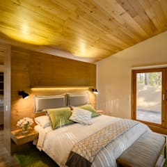 غرفة نوم تنفيذ Weber Arquitectos,