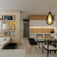 Projeto 3d: Salas de jantar  por 285 arquitetura e urbanismo