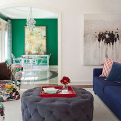 Media room by Andrea Schumacher Interiors, Eclectic