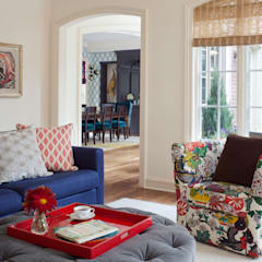 Cherry Creek Traditional with a Twist:  Media room by Andrea Schumacher Interiors