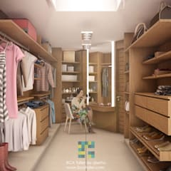 Dressing room by BCA Arch and Interiors