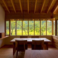 Comedores de estilo  por エイチ・アンド一級建築士事務所 H& Architects & Associates
