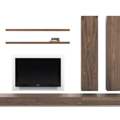 MODELO 14B  - MUEBLE MODULAR -  HOME THEATER: Salas / recibidores de estilo minimalista por 3 DECO