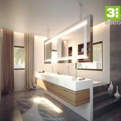 BAÑOS SPA: Baños de estilo  por 3 DECO, Minimalista Cuarzo