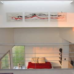 CASA RBL - Estudio FERNANDEZ+MEGO: Estudios y oficinas de estilo minimalista por Estudio Fernández+Mego