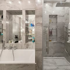 Квартира на Пырьева: Ванные комнаты в . Автор – Надежда Каппер