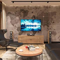 industrial Living room by FAMM DESIGN