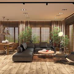 KLIMATYCZNY WILANÓW: styl , w kategorii Salon zaprojektowany przez FAMM DESIGN