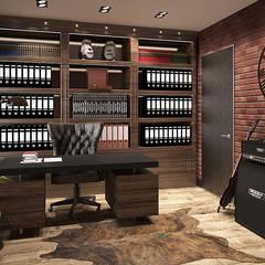 KLIMATYCZNY WILANÓW: styl , w kategorii Domowe biuro i gabinet zaprojektowany przez FAMM DESIGN