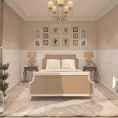 STYL PROWANSALSKI: styl , w kategorii Sypialnia zaprojektowany przez FAMM DESIGN
