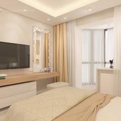 Трехкомнатная в ЖК Медный Всадник: Спальни в . Автор – Design interior OLGA MUDRYAKOVA