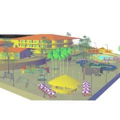 """Desarrollo Turístico """"CAMPO REAL"""": Casas de estilo  por YURAKU SUAREZ, Rústico"""