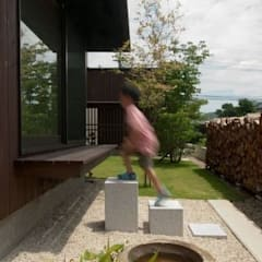 ゴトオリの家: FrameWork設計事務所が手掛けた庭です。