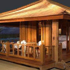 bungalow de madera 100 % reciclada by comprar en bali Eclectic Solid Wood Multicolored