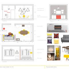 Propuesta Diseño Vivienda Unifamiliar: Livings de estilo  por Casa Meva Estudio