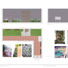 Propuesta Diseño Vivienda Unifamiliar: Jardines de estilo  por Casa Meva Estudio