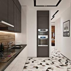 Дизайн интерьера двухкомнатной квартиры ЖК Фили Град : Кухни в . Автор – GM-interior