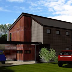 Access View:  Houses by ARQvision BIM Sustainable Architecture