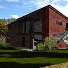 Access View 2:  Houses by ARQvision BIM Sustainable Architecture