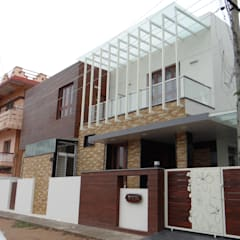 Residence of Mr.Manjunath:  Houses by Hasta architects,Modern