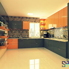 Mr.Ashutosh Project by Blue Interiors:  Kitchen by Blue Interiors