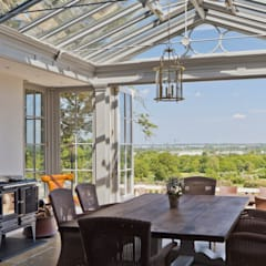 Conservatory on stunning Georgian Country Home:  Conservatory by Vale Garden Houses