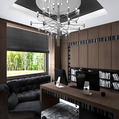 RETRO FUTURIST | Wnętrze domu : styl , w kategorii Domowe biuro i gabinet zaprojektowany przez ARTDESIGN architektura wnętrz